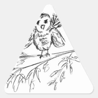 Sticker Triangulaire Un oiseau, le bip original