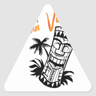 Sticker Triangulaire Vacances d'Hawaï