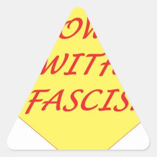 Sticker Triangulaire Vers le bas avec le fascisme