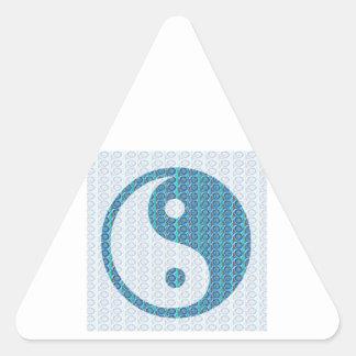 Sticker Triangulaire YinYang YIN YANG équilibré