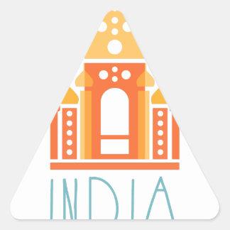 Sticker Triangulaire Yoga de l'Inde