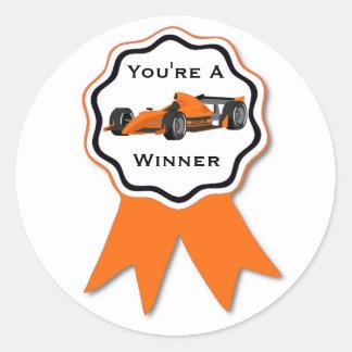 Sticker van het Lint van de raceauto de Oranje