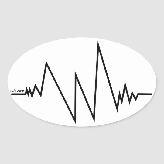 Stickers cardiogramme