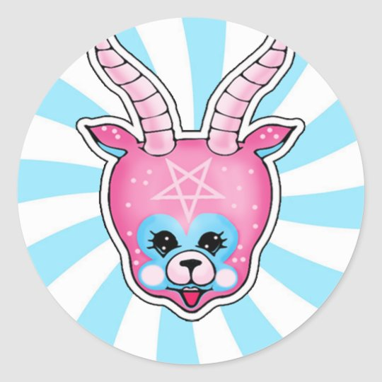 Stickers cute satan
