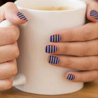 Stickers Pour Ongles Art de clou de Minx de bleu et d'or