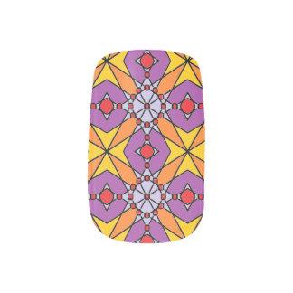 Stickers Pour Ongles Art de clou d'étoile de mandarine