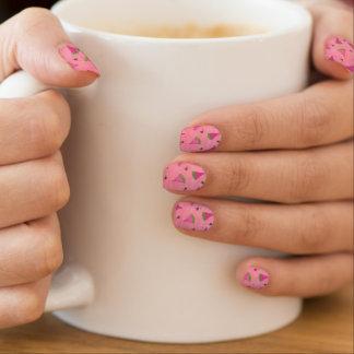 Stickers Pour Ongles Art rose de clou de pastèques et de coccinelles