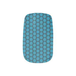 Stickers Pour Ongles Bleu sur les clous bleus de Minx de point