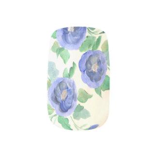Stickers Pour Ongles Clous de rose de bleu