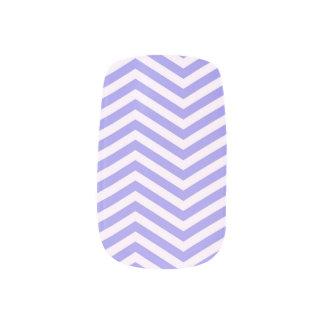 Stickers Pour Ongles Enveloppes blanches et bleues de clou de zigzag