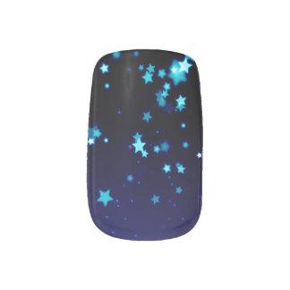 Stickers Pour Ongles Étoiles bleues - l'art de clou de Minx,
