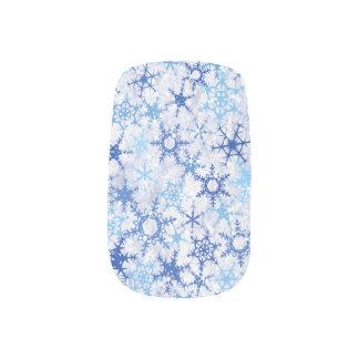 Stickers Pour Ongles Flocons de neige bleus