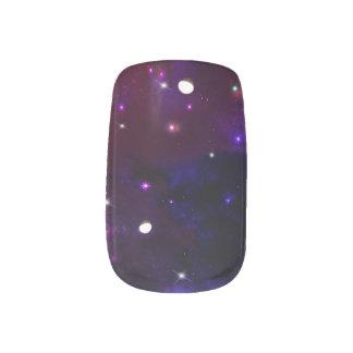 Stickers Pour Ongles Galaxie pourpre bleue de minuit