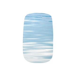 Stickers Pour Ongles Mer de bleu et de blanc de tranquilité