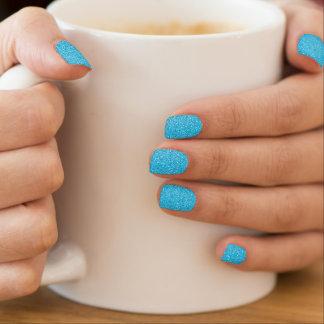 Stickers Pour Ongles Miroitement bleu de parties scintillantes d'Aqua
