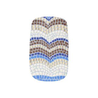 Stickers Pour Ongles Mosaïque bleue