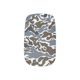 Stickers Pour Ongles Motif bleu de camouflage de couleur