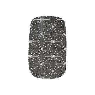 Stickers Pour Ongles Motif géométrique élégant - argent et Noir