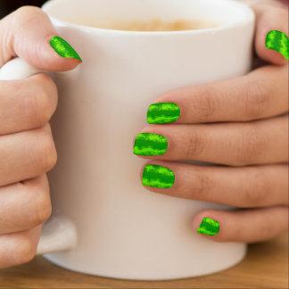 Stickers Pour Ongles Motif vert de fruit d'été d'écorce de pastèque