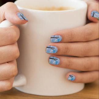 Stickers Pour Ongles Nuages de blanc de ciel bleu de cactus de Saguaro