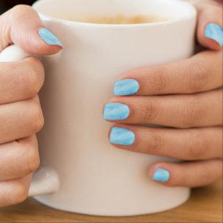 Stickers Pour Ongles Peinture bleue d'aquarelle de précipitation