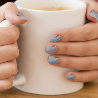 Stickers Pour Ongles Pierre bleue de nature de cool de remous d'agate