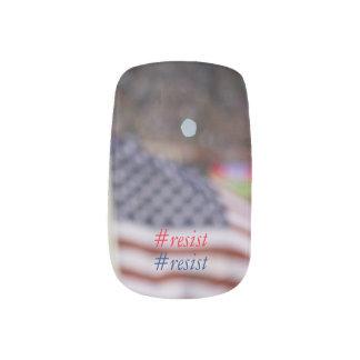 Stickers Pour Ongles Résistance impressionniste de drapeau américain