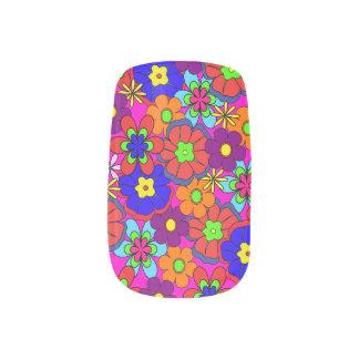 Stickers Pour Ongles Rétros fleurs de hippie