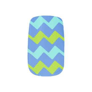 Stickers Pour Ongles Zag tropicaux de bleus
