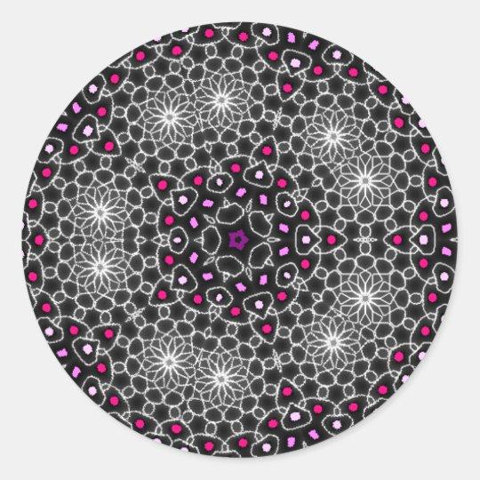 Stickers psychédélique kaleidoscope