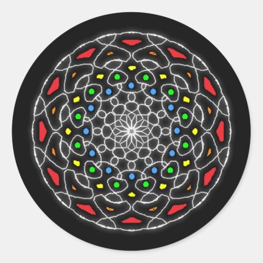 Stickers psychédélique kaléidoscope coloré