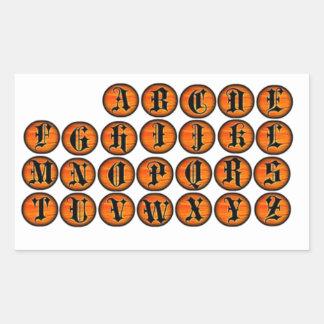 Stickers van de Brief van Halloween de Oranje
