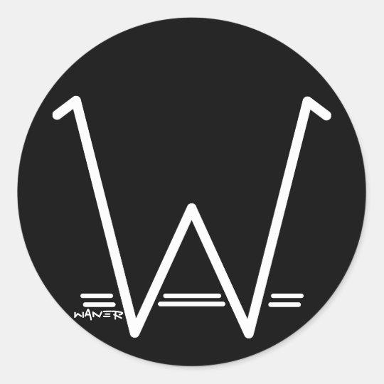 Stickers W WANER (blanc)
