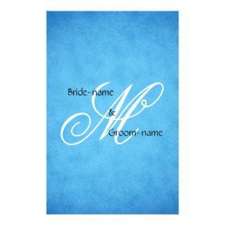 Stijl van het Monogram van het Huwelijk van de Flyer