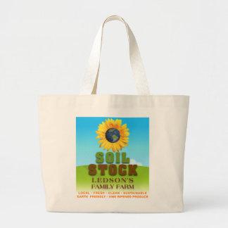 Stock de sol - sac de toile de ferme de la famille