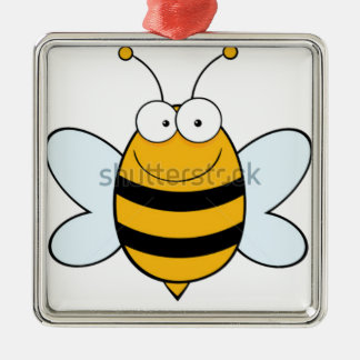 stock-vector-bee-mascot-cartoon-character-74626567 ornement carré argenté
