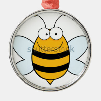 stock-vector-bee-mascot-cartoon-character-74626567 ornement rond argenté