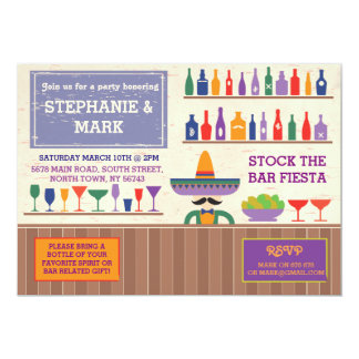 Stockez l'invitation mexicain de tequila de fiesta carton d'invitation  12,7 cm x 17,78 cm