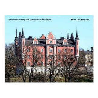 Stockholm. På Skeppsholmen d'Amiralitetshuset… Carte Postale