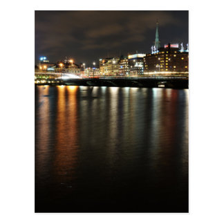 Stockholm, Suède la nuit Carte Postale