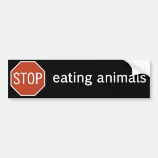STOP-EATING-ANIMALS AUTOCOLLANT DE VOITURE