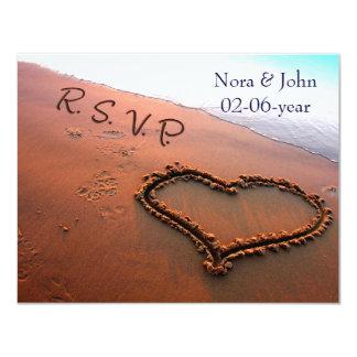 strand huwelijk RSVP Kaart