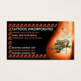 Studio de tatouage cartes de visite