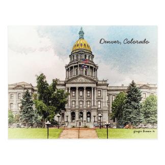 Style ancien, bâtiment de capitol d'état du carte postale