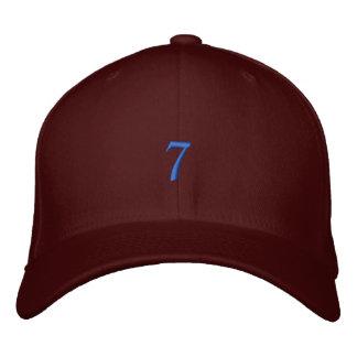 Style ancien numéro 7 casquette brodée