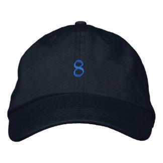 Style ancien numéro 8 casquette brodée