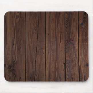 Style campagnard en bois en bois foncé rustique de tapis de souris