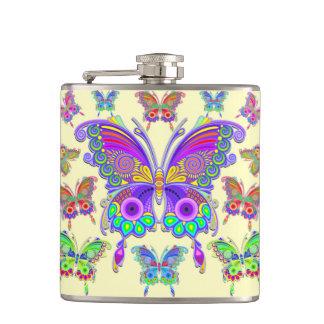 Style coloré de tatouage de papillon flasques