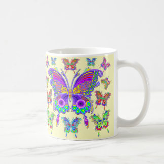 Style coloré de tatouage de papillon mug
