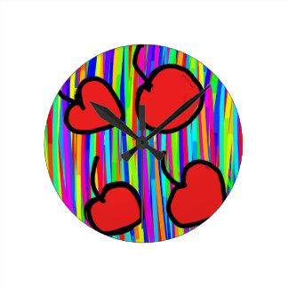 style de couleur de cerise horloge ronde